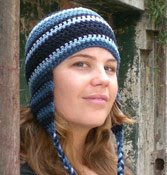 Travel headwear: Ear-flap beanie, easy knit e-pattern