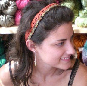 Headband pattern, Athens, GA, Red Clay