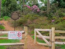 No Dogs Allowed ON or OFF Leash at BRG Heritage Rhododendrons