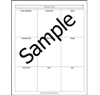 Organization Grocery Form