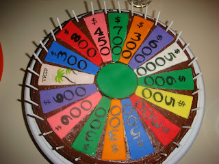 Wheel of Fortune Birthday Cake