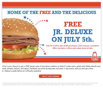 Free Arbys July 5