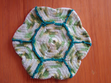 Bessie, Blanche, June Potholder turned coaster