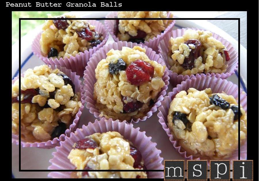 MSPI Mama: Peanut Butter Granola Balls