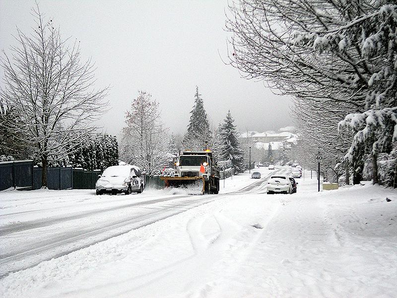 Ванкувер ФОТО. Снег в Ванкувере.