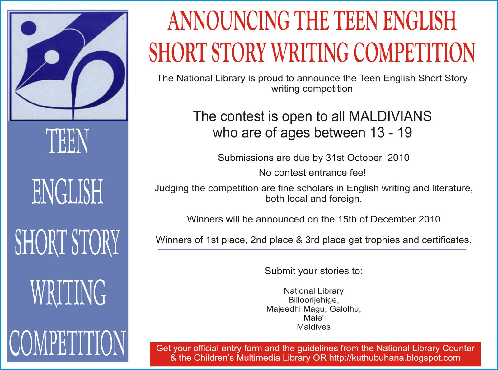 teen fiction writing contests Here is a short list of writing contests and publishing opportunities for young  writers  achievements of young artists and writers in the visual and literary arts.