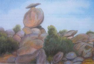 Piedra de la caperuza, piedra del sombrero,taffoni