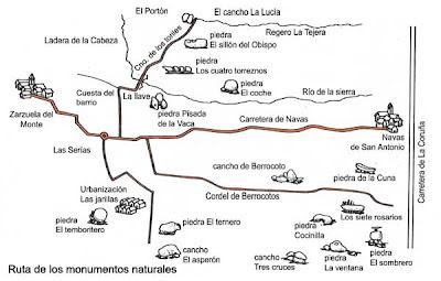 piedras singulares,zarzuela del monte
