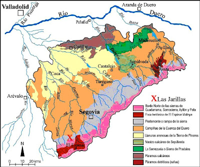mapa de Segovia,mapa geológico de Segovia