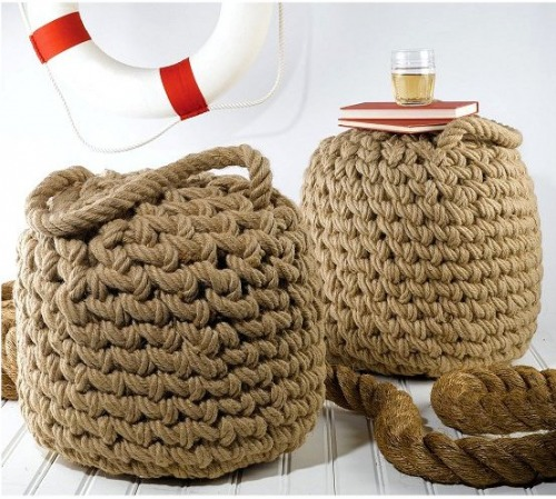 Nautical Rope Decor Items: Coastal Home: Style Starboard: Round Up Decorating With Rope