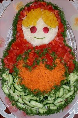 Wege zabawne obrazki - rosyjska babuszka z warzyw