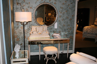 The French Inspired Belvedere Mirrored Table, Anastasia Bench, Adair Mirror  And Antoinette Side Table.