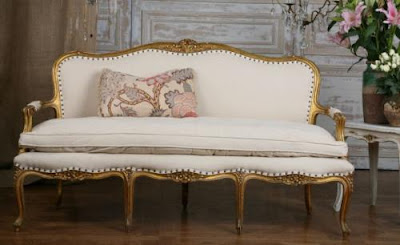 Antique French  on Antique French Iron Day Bed Settee