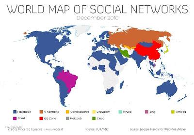 Sociální sítě - svět je rozdělen