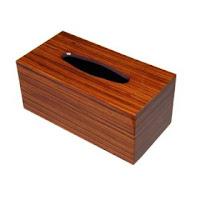 ゼブラノウッド製ティッシュボックス