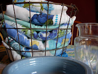 Blue vintage tablecloths