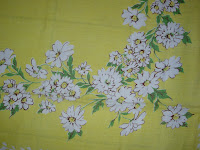Vintage Tablecloth with Daisies