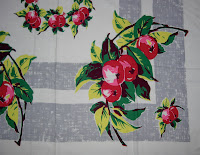 Apples on Vintage Tablecloth