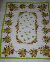 Fall Autumn Vintage Tablecloth