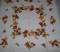 Fall Leaves Vintage Tablecloth
