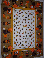 Thanksgiving Autumn Fall Vintage Tablecloth