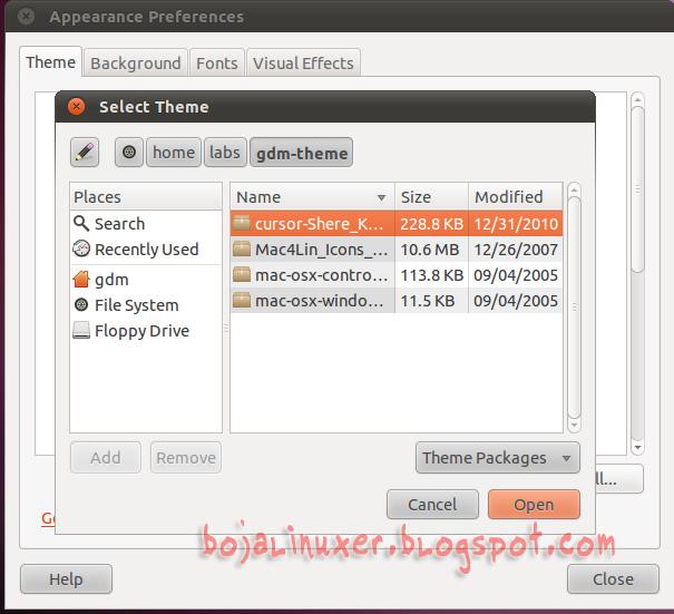 Setelah semua file theme diinstal, Anda dapat mengklik tombol