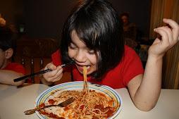 Spaghetti w/chopsticks