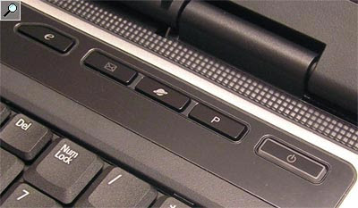 Acer Aspire 9303 WSMi top buttons, e-mail, web