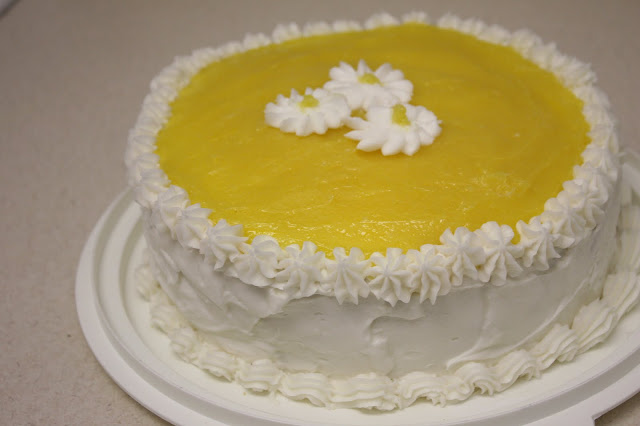 Lemon cake with buttercream icing
