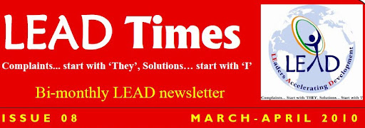 LEAD Times issue 08 dcselead, Aprils best projects, bijapur valedictory, months best projects