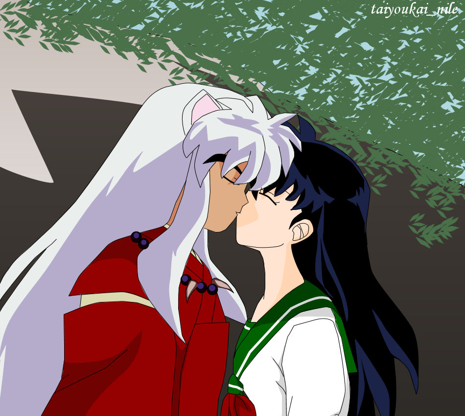 inuyasha and kagome kiss