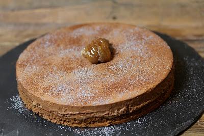 entremets, gâteau ,chocolat , marron , noel