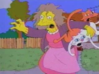"""FC: """"los simpson"""" SimpsonsCrazyCatLady"""