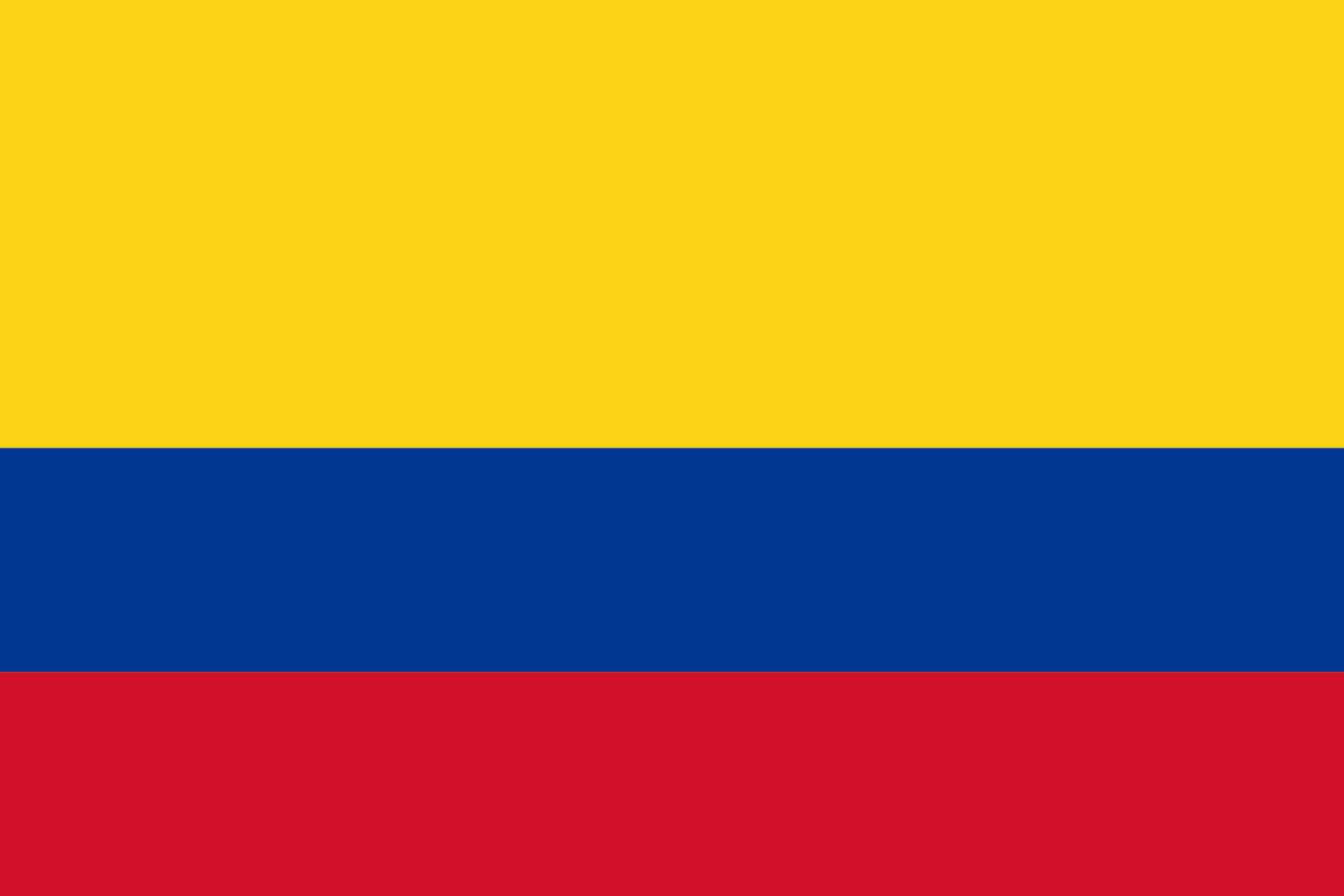 Bandera de Colombia para imprimir y pintar - Dibujos de