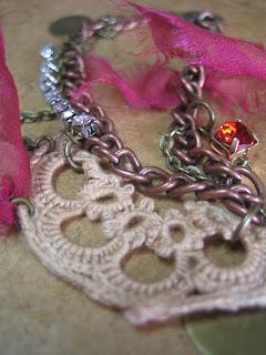 recycled lace silk bracelet