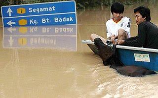 ohor baharu bencana banjir yang melanda johor masih tidak banyak