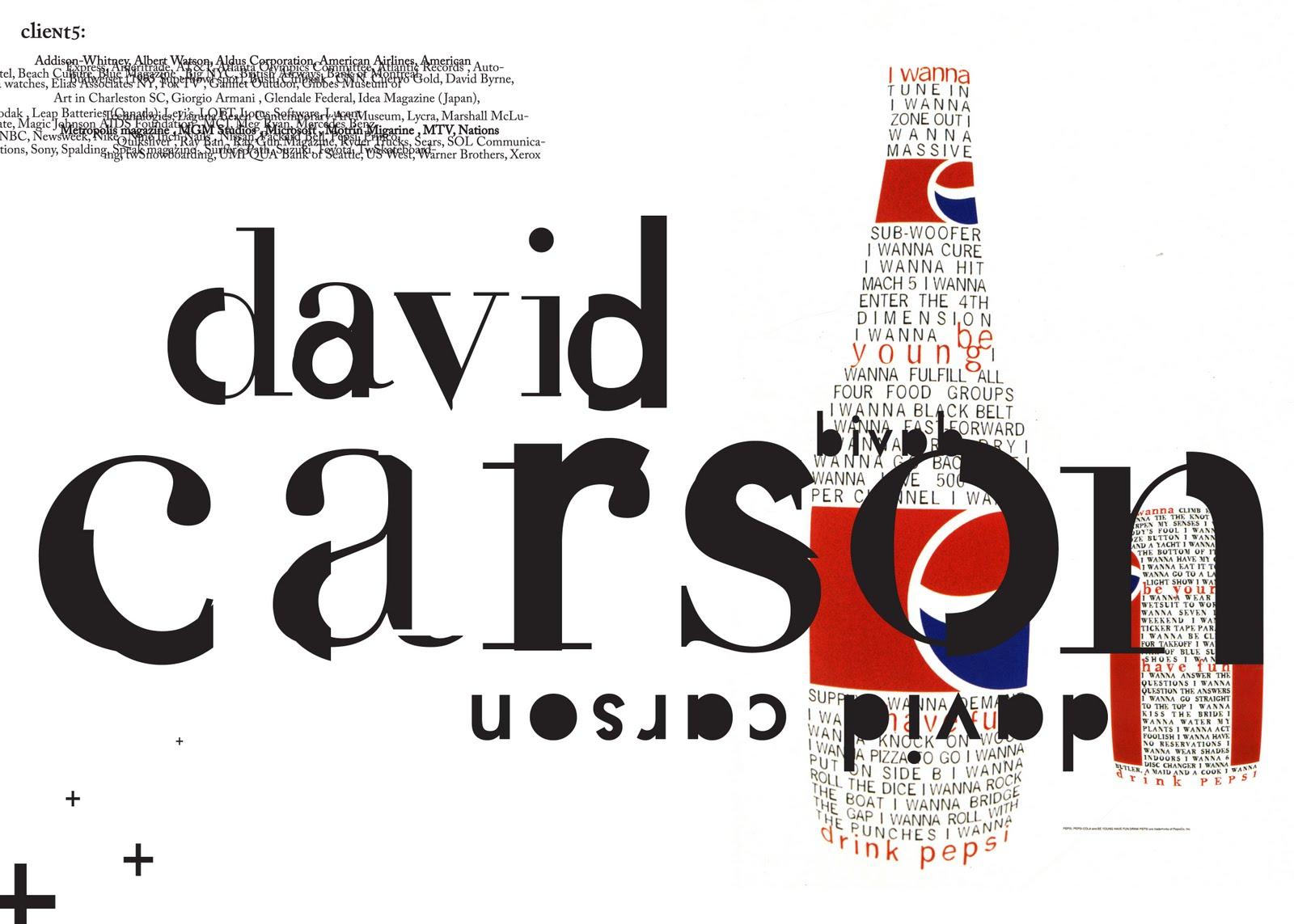 David Carson best works-ის სურათის შედეგი