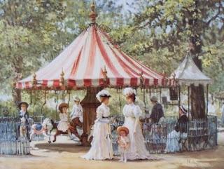 Victorian Carousel Scene