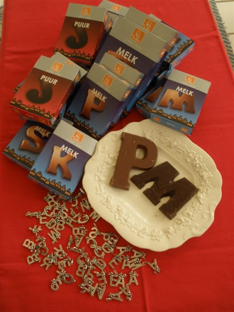 Dutch Chocolate Alphabet Letters