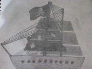 Desenho que eu fiz do navio do Jack...