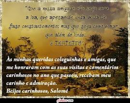 HOMENAGEM DA AMIGA SALOMÉ