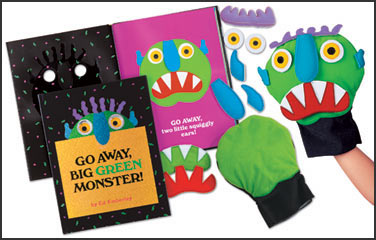 Insane image intended for go away big green monster printable book