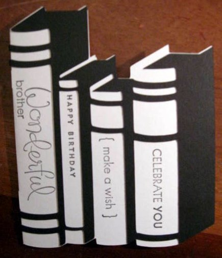 Jacqui J Book Birthday Card Cricut