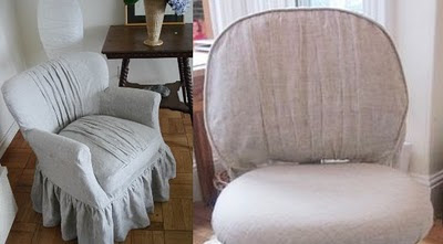 Cozy Cottage Slipcovers Linen Office Chair Slipcover