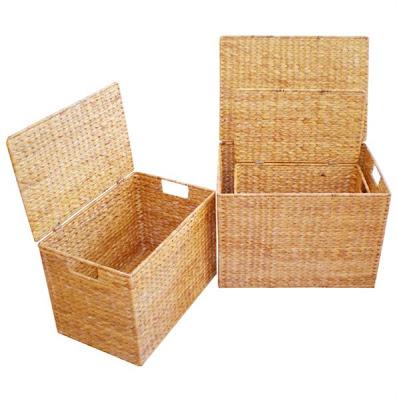 Water hyacinth handicrafts Basket Model 3, Antique Baskets, Natural handicraft, Basket