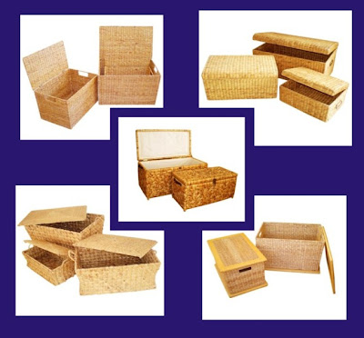 Water hyacinth handicrafts Basket, Antique Baskets, Natural handicraft, Basket
