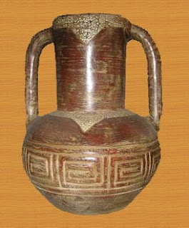 Antique flower vase of Natural Handicraft