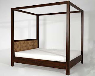 Antique Bed From Natural Handicraft With Style Minimalist