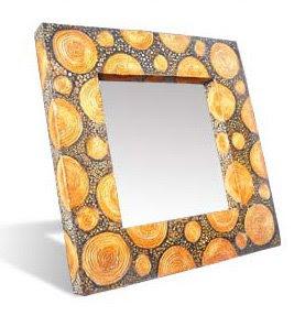 Sketch limb wood decorative mirror_001