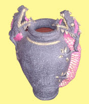 Antique Vase Homemade Handicraft, Clay Handicraft